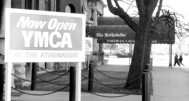 Original Welcome Sign | YMCA at the Athenaeum | YMCA of Greater Indianapolis