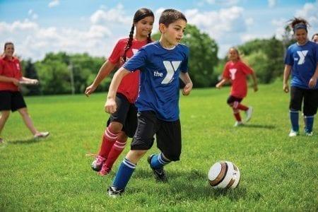 kids playing soccer - Hendricks Regional Health YMCA