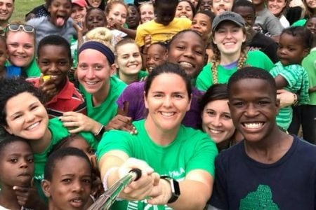 Volunteers and Kids Selfie | Spring Break 2018 | Mandeville Jamaica | Intercollegiate Y