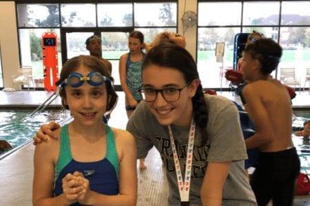 Ellie and her swim Coach