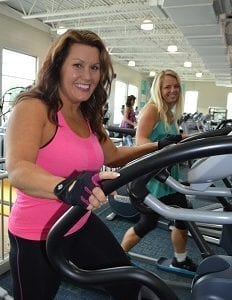 Mandy and Heather Working Out