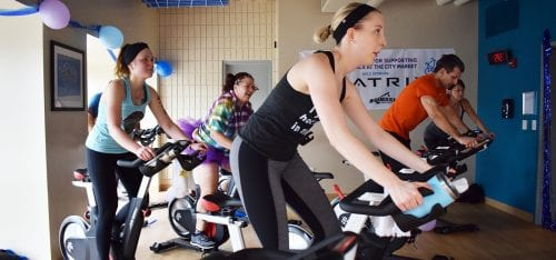 2018 Cycle-a-Thon at the Y at the City Market