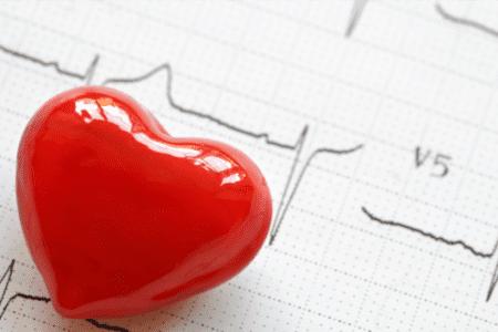 Heart Health - Plastic Heart on EKG Read Out