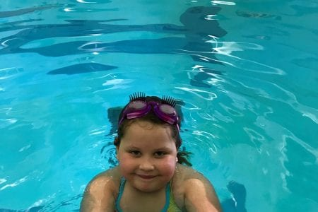 Young swimmer at the YMCA