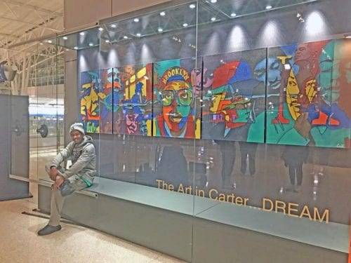 Derrick Carter's installment at the Indianapolis Airport.