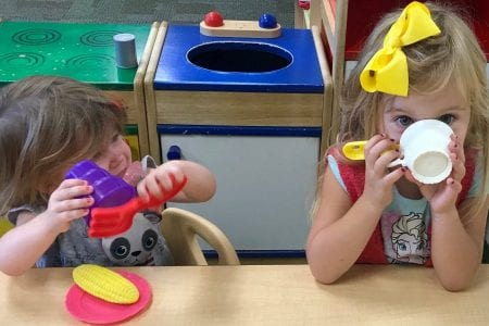 Anderson Family - Cora And Sadie Play Food   Play & Learn   Witham Family YMCA