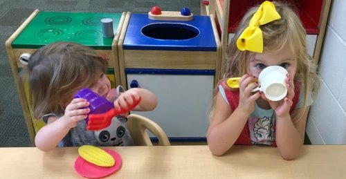 Anderson Family - Cora And Sadie Play Food | Play & Learn | Witham Family YMCA