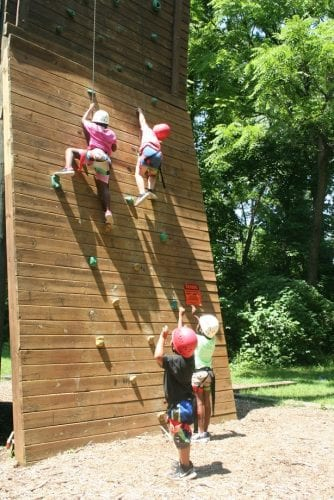 City dwelling kids climb the wall on their first overnight camping trip