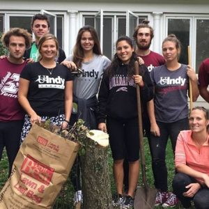 UIndy Students participate in our Spring Clean