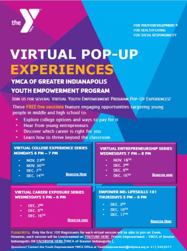virtual pop-up flyer