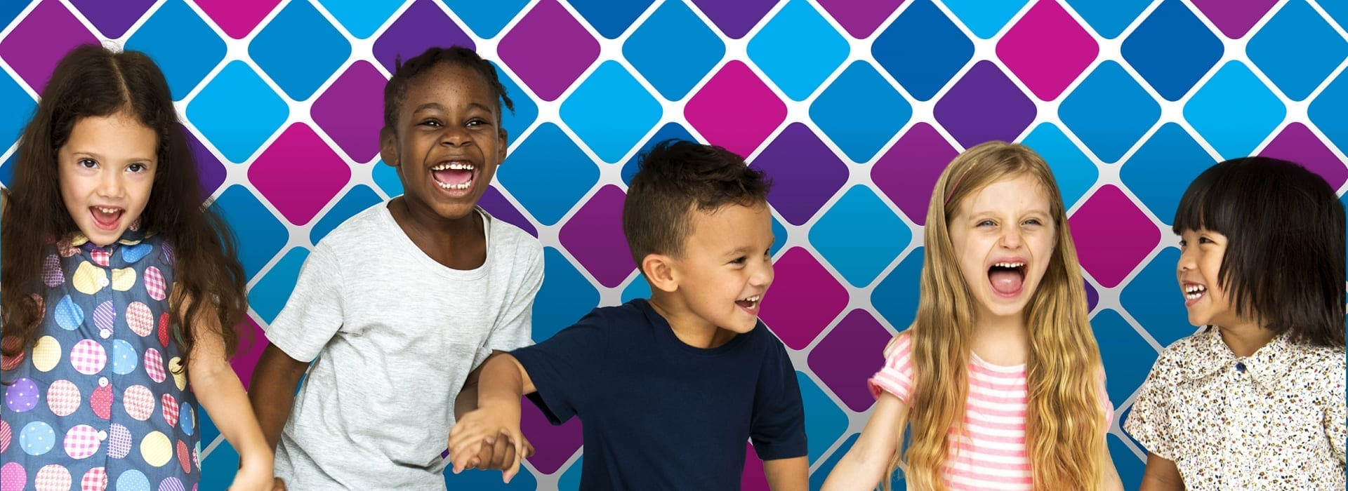Group of young kids laughing