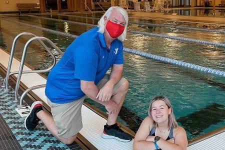 Katie Dolen and Tom Addington swim lessons