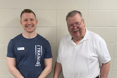 Tom with personal trainer Kaleb - Personal Training