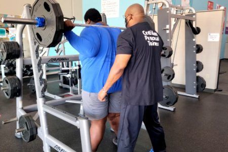 Calvin is achieving his goals through Personal Training with Gary.