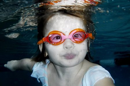 5-year-old Rose loves swim lessons at the Y