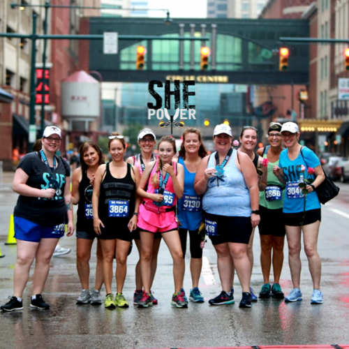 Members participating in the She Power Half Marathon