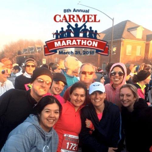 Members participating in the Carmel Marathon