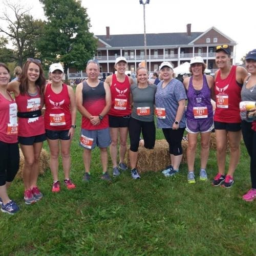 Members of fishers Y long distance running group