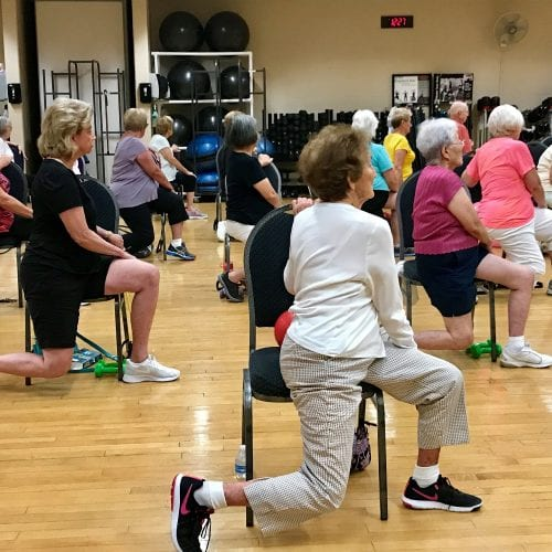 silver sneakers chair fitness class